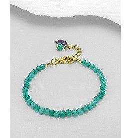 Bracelet- Jade/W Bead Charm