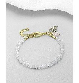 Bracelet- Jade/W Leaf