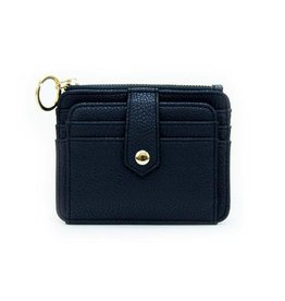 Mary Square Wallet Black 3.5x2.5