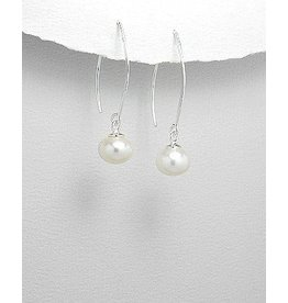 Sterling Sterling Silver Pearl Drops