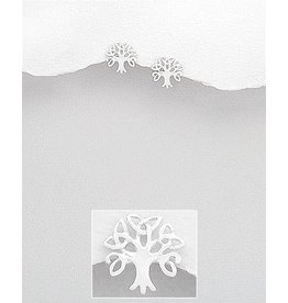 Sterling Studs- Celtic Tree