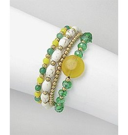Beaded Bracelets- Green/Yellow