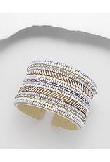Bracelet- Large Seed Beads in Purple