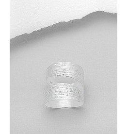 Sterling Ring-Matte Wrap