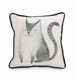 Pillow- Blk and White W/Cat