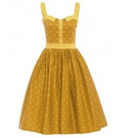 Dress- Imelda by Lindy Bop in Mustard