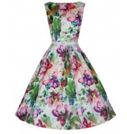 Dress- Audrey in Dream Floral by Lindy Bop