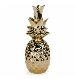 Gold Ceramic Deco Pineapple