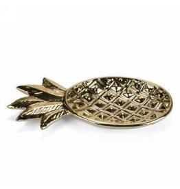 Gold Ceramic Pineapple Dish