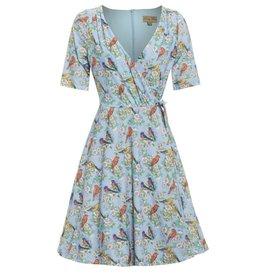 Dress- Anita Blossom Print by Lindy Bop