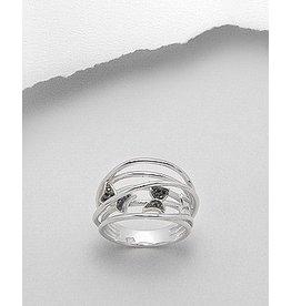 Sterling Ring-W/CZ