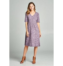 Fran Dress in Mulberry