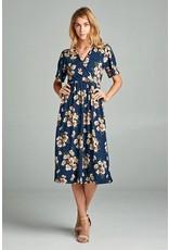 Gemma Navy Floral Dress