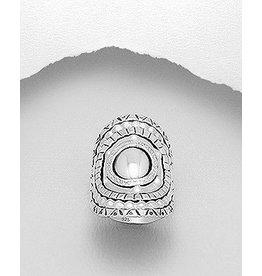 Ring- Large Silver W/Pattern