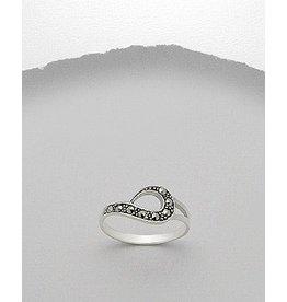 Ring- Swirl/Marcasite