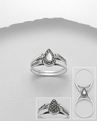 Ring-  Double Sided Marcasite