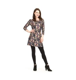 Papillon Flora Velvet Print Dress (More Colours)