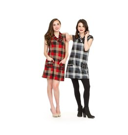 Papillon Harmony Plaid Short Sleeved