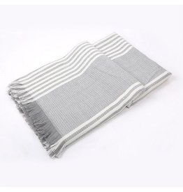 nairn Grey/White Scarf