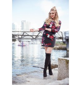 Papillon Jordan Floral Sweater Dress