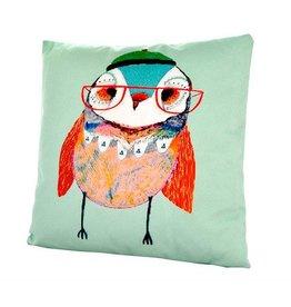 Nostalgia Import Pillow - Bird W/Glasses