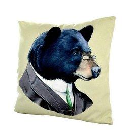 Nostalgia Import Pillow - Bear in Suit