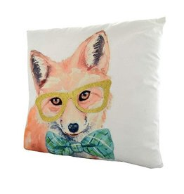 Nostalgia Import Pillow - Fox Wearing Glasses