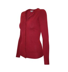 Cielo Cora Button Cardigan- Red