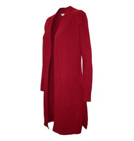 Cielo Geneva Long Duster Cardigan- Red
