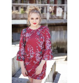 Papillon Suzanne Sweater Dress W/Bell Sleeves