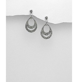 Sterling Sterling Marcasite Drops