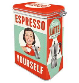 Nostalgia Tin Box-Espresso Yourself