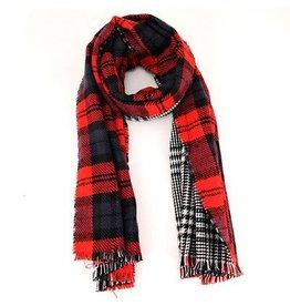 nairn Blanket Scarf Reversible Red/Blk