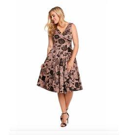 Eva Rose Adeline Flocked Dress
