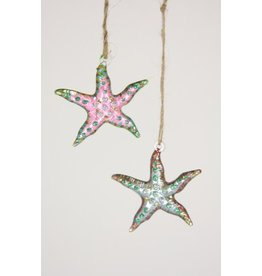 Glitter Starfish Ornament
