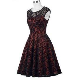 Frock It Lacy Dress in Wine