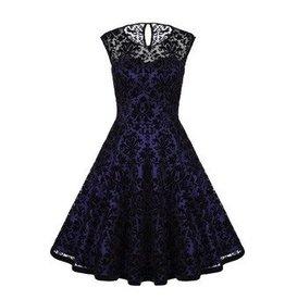 Frock It Lacy Dress in Navy