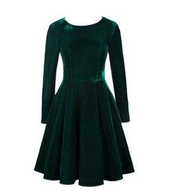 Frock It Jewel Velvet Dress in Forest