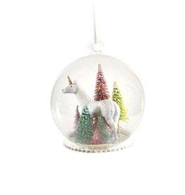 Unicorn Globe Ornament