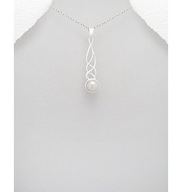 Sterling Necklace- FIlagree W/Pearl