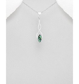 Sterling Necklace- FIlagree W/Abalone