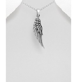 Sterling Necklace- Angel Wing