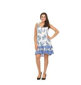 Papillon Belle Dress in Blue Floral Print