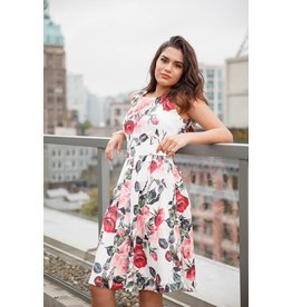 Papillon Tessa Dress in Rose Floral Print