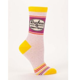 Blue Q Crew Socks-Duchess of Sassytown