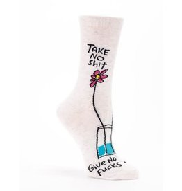 Blue Q Ladies Crew Socks-Take No Shit