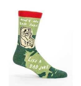 Blue Q Men's Socks-Dad Joke