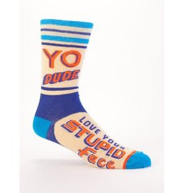 Blue Q Men's Socks-Yo Dude, Love Your