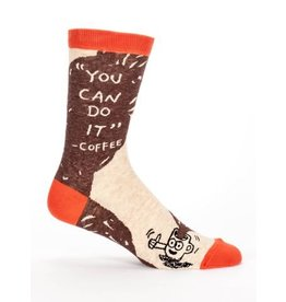 "Blue Q Men's Socks-""You Can Do It"" Coffee"