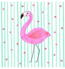 Lunch Napkins-Flamingo